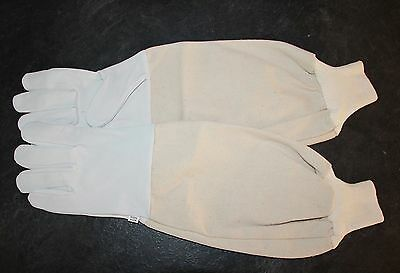 Beekeepers Bee Gloves - Soft White Goats Leather with Cotton Gauntlets All Sizes 3