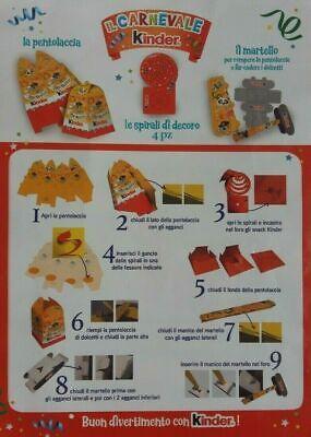 Pah Kinder Ferrero La Pentolaccia  Il Martello Carnevale 2020 Nutella Nuova 2