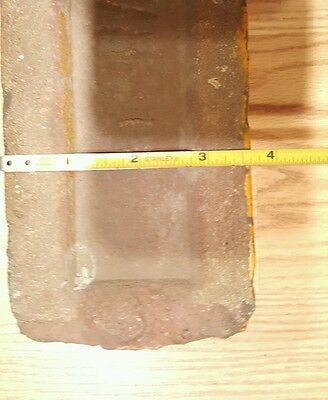 Antique Vintage Claycraft Red Orange Glazed Rare Building Brick Columbus Oh Ohio