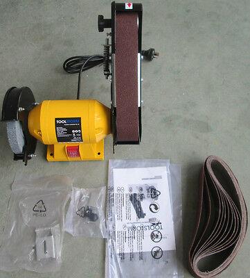 Free 21 Belts 150Mm Bench Grinder Linisher Sanding Grinding Wheel Belt Sander 5