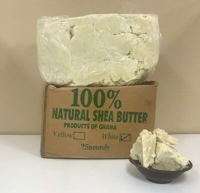 100% RAW AFRICAN SHEA BUTTER Unrefined Organic Pure GHANA Choose SIZE And COLOR 6