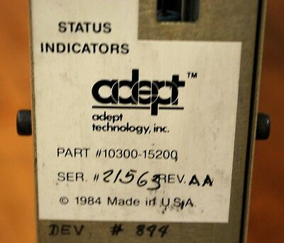 Adept Technology 10300-15200 A Type Rev. AA Control Module Servo Drive Amplifier
