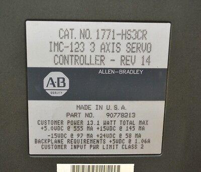 Allen Bradley 1771-HS3CR PN: 90778213, 3 Axis Servo Controller - USED