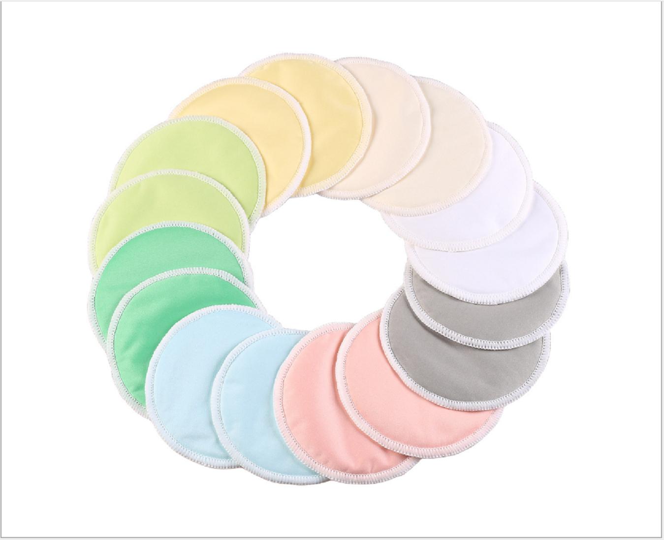 8Pcs Bamboo Reusable Breast Nursing Breastfeeding Washable Soft Organic Pads 2