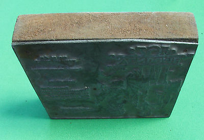 VINTAGE PRINTING PLATE BLOCK Canada  Pub of clothing The Vendome