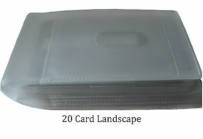 Replacement Credit Card Sleeve Inserts Portrait / Landscape All Sizes- 6, 12, 20 4