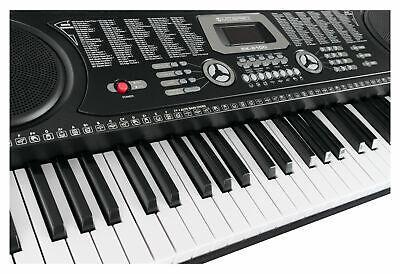 Tastiera Musicale Elettronica 61 Tasti 255 Suoni con Supporto Sgabello Cuffie 11