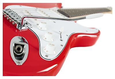 Guitare Electrique Strato ST-Style Single Coil Tremolo 22 Frettes Cutaway Rouge 6