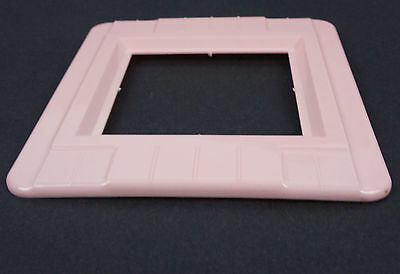 Vtg Pink Switch Oulet Cover Decorative Wall Protector Shield Plate Double Gang 2