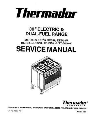 7 Of 11 Repair Manual:Thermador Ovens U0026 Cooktops (choice Of 1 Manual,  Models Below)