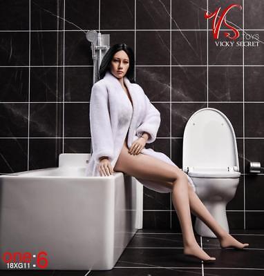 Vstoys 18XG12 1//6 Bathroom Scene Bathrobe Towel Set For 12/'/' Action Figure Doll