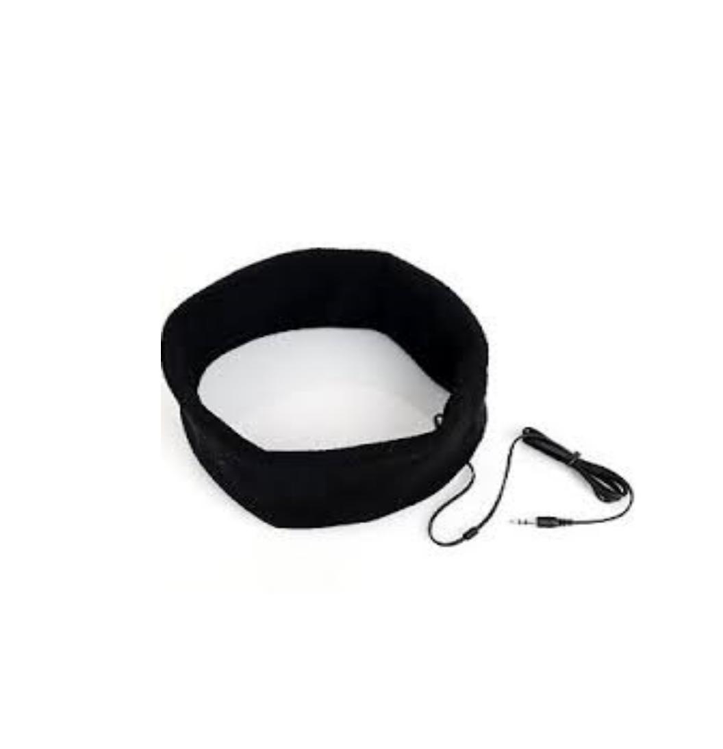 Sleep Headphones SleepPhones Headband Mask for Running Sleeping Relaxing - BLACK