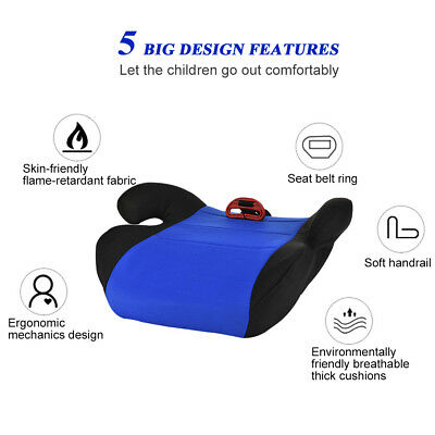 Car Booster Seat Chair Cushion Pad For Toddler Children Child Kids Sturdy 4