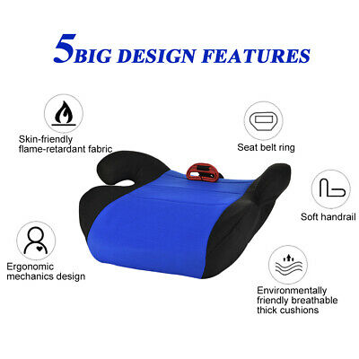 Car Booster Seat Chair Cushion Pad For Toddler Children Kids Sturdy 3-12 Years 6
