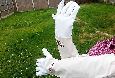 Beekeeping gloves Beekeeper protective Bee gloves 100% Leather & Cotton Zean 6