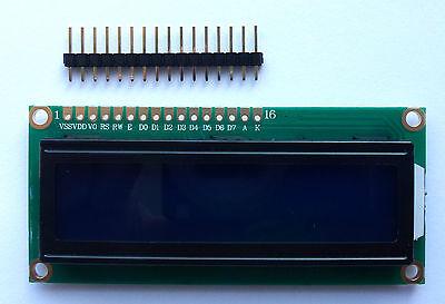 LCD 16x2 Display Blue 1602 plus header Arduino Rasp Pi UK Seller Free Postage