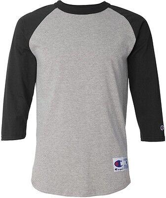 8 of 12 Champion Mens S-3XL Tagless Tee ¾ Sleeve Baseball 6.1 ounce Raglan T -Shirt 1d70b013c