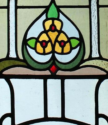 Art Deco Pair Of English Stained Glass Windows Very Stylish 2