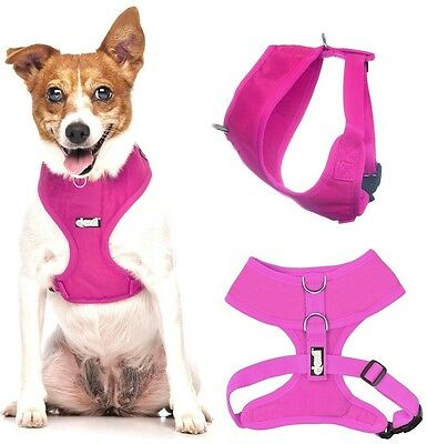 Padded Waterproof Adjustable Pet Puppy Dogs Non Pull Soft Vest Harness or Sets 2