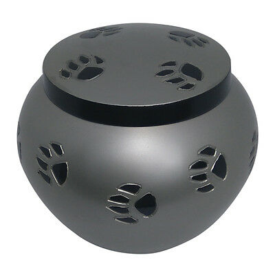 Pet Cremation Urn Ashes, Black Band Odyssey Pewter Urn for Pet 2