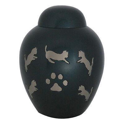 Pet Funeral Ashes, Smaller Dark Slate Dome Top Cremation Urn 2