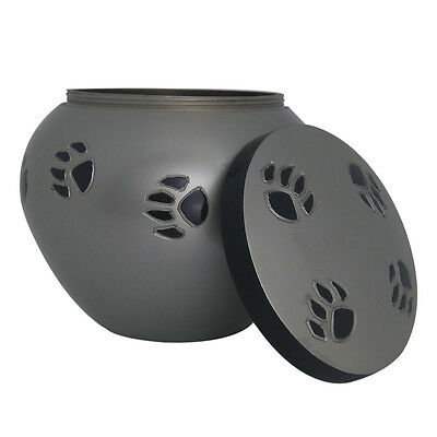 Pet Cremation Urn Ashes, Black Band Odyssey Pewter Urn for Pet 3