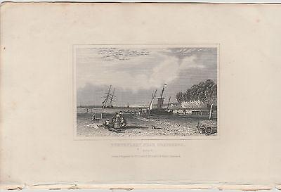 1846 Six Antique Prints- KENT -Dartford, Dover, Northfleet, Gravesend, Penshurst 6