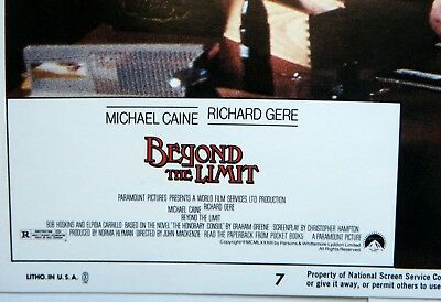 Beyond the Limit Movie Vintage Lobby Card 1983 Michael Caine Richard Gere