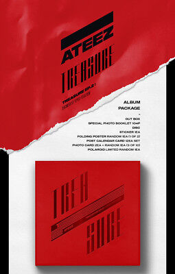 US SHIPPING Ateez-[Treasure EP.2:Zero To One]2nd Mini CD+Poster/On+Book+Card+etc 9