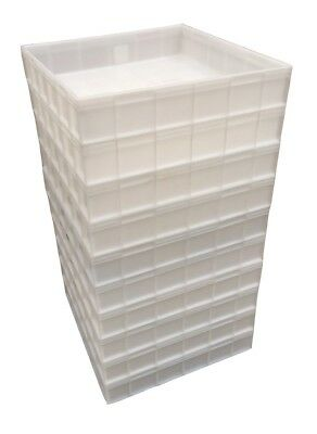 Square Plastic Stacking Food Grade Pizza Dough Bakery Trays -Commercial Quality! 4