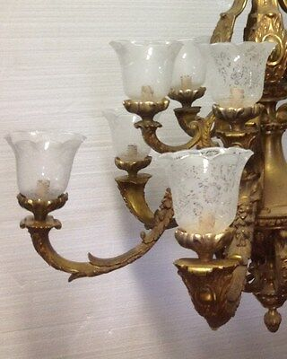 Rococo Bronze 6 Arm 12 Light Chandelier 2