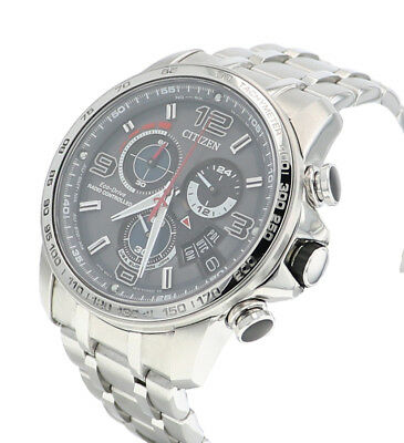 Citizen Eco-Drive Men's A-T Chronograph Alarm Grey Dial 44mm Watch BY0100-51H 3