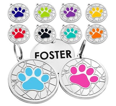 Personalized Dog Tags Pet ID Name Custom Engraved Cat Puppy Tag Bone Paw S L 3