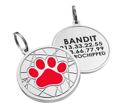 Personalized Dog Tags Pet ID Name Custom Engraved Cat Puppy Tag Bone Paw S L 8