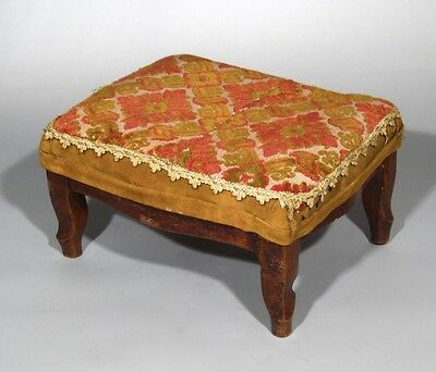 Antique French Country Footstool Louis XV Style 9