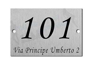 Scegli il tuo numero tutto /è possibile! Targa con numero civico piastrellato 10,8x10,8x0,5 cm
