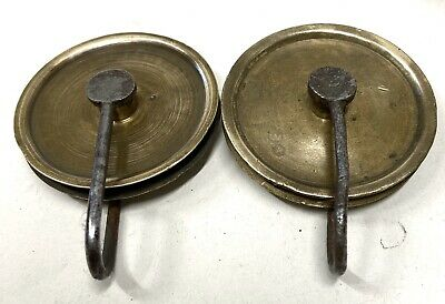 ## Pair Of Antique Grandfather/ Longcase Clock Pulleys 4