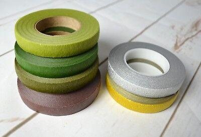 Stemtex & Oasis Florist Tape - Asst Colours Wire Work Buttonholes Craft 2