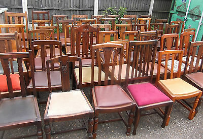 LARGE COLLECTION OF OAK 1920s DINING CHAIRS- IDEAL FOR PUBS, RESTAURANTS ETC 9