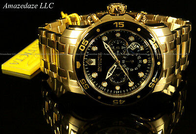 NEW Invicta Men's Pro Diver Scuba Chronograph Stainless Steel Black Dial Watch!! 6
