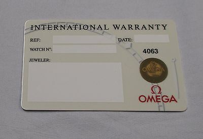 NOS Open/Blank White OMEGA Watch International Warranty Card w/ Source Code ONLY