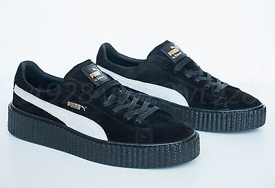 size 40 6d9b6 64b9d NEW PUMA FENTY By Rihanna Creepers Suede Black - White Men's Shoes All Sizes