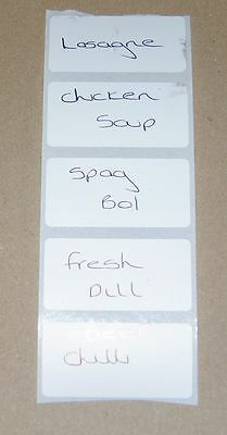 100 FREEZER Write-on Blank Food Labels Adhesive Labels Stickers 50mm x 25mm