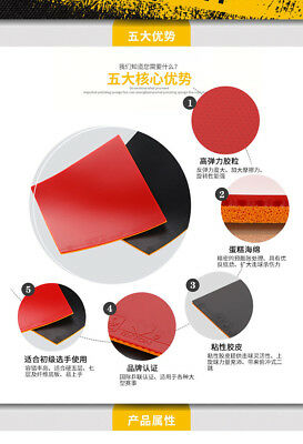 LOKI RXTON III Cake Sponge sticky Table Tennis Rubber// Ping Pong Rubber RED