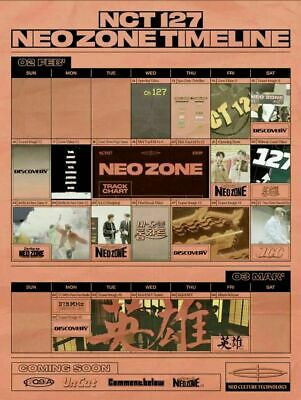 NCT 127 NEO ZONE 2nd Album T Ver CD+Photo Book+3Card+7Sticker+Poster+GIFT SEALED 5