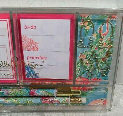 Lilly Pulitzer Desk Accessory Set Flamingo Pattern Retail $26.00 NWT 3
