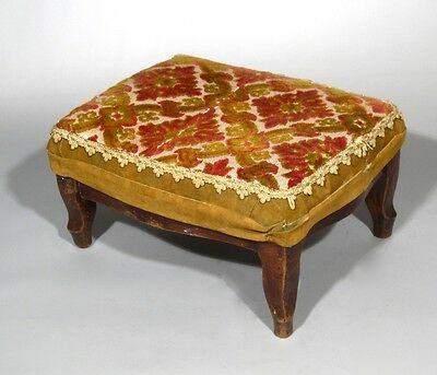 Antique French Country Footstool Louis XV Style 2