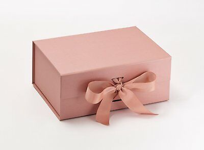 A5 DEEP ROSE GOLD PINK PERSONALISED GIFT BOX VALENTINES WEDDING BRIDE BIRTHDAY
