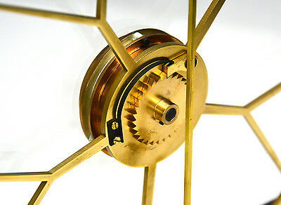 French Style Thin Glass Plated Pinwheel Escapement Great Wheel Skeleton Clock 9