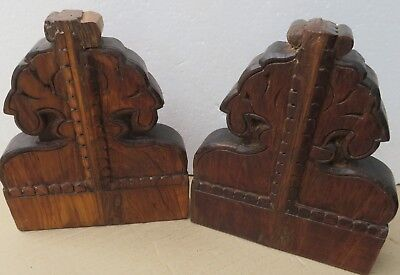 Antique Reclaim Carved Wood Corbel Corner Sconce Redefine Multi Use Wall Decor-3 8